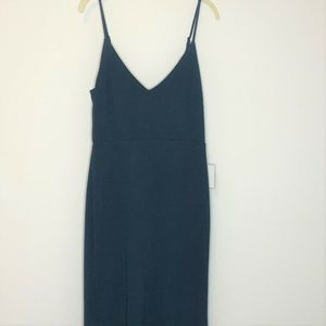 Lulus Maxi Dress Forest Green V Neck Trumpet Gown